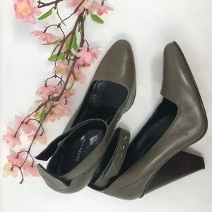 Derek Lam Dark Taupe Leather Pumps sz 7.5 B